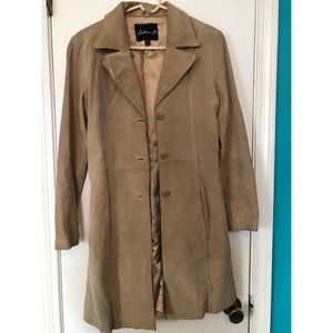 Arden B Tan Suede Coat